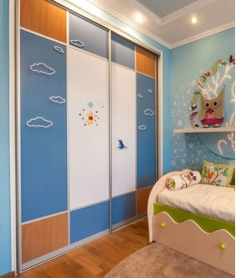 Встроенный шкаф купе в детскую лдсп красивый