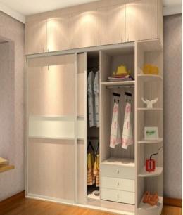 Встроенный шкаф купе в детскую с антресолью