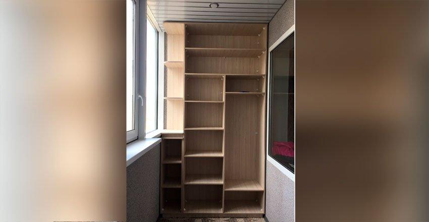 эконом шкаф на балкон без дверей